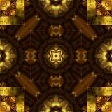 Sniden guld- prydnad, sömlös modelltextur. Royaltyfria Bilder