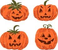 sniden halloween pumpa Arkivbild