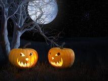 sniden halloween pumpa Royaltyfri Fotografi