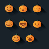 sniden halloween pumpa stock illustrationer