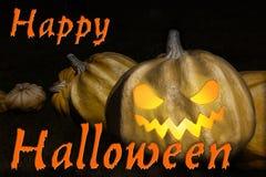sniden halloween pumpa Arkivbilder