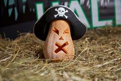sniden halloween pumpa Allhelgonaaftonpumpa som grinar i det mest onda modeet Spöklik lykta för allhelgonaaftonstålarnolla Pumpa  royaltyfri foto