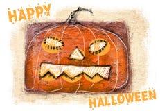sniden halloween pumpa bakgrund lyckliga halloween Läskig pumpastålar-nolla-lykta med kusligt leende Fotografering för Bildbyråer