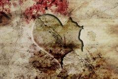 Sniden hjärta på jordning royaltyfri illustrationer
