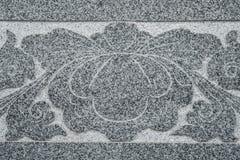 Sniden marmorvägg Arkivbild