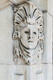 Sniden stenhuggeriarbete på byggnad Royaltyfri Bild
