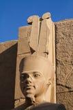 Sniden stenstaty av den egyptiska guden Royaltyfria Foton