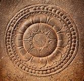 sniden stylized lotusblommasten Arkivfoto