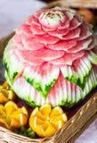 sniden vattenmelon Arkivfoton