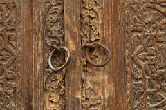 Sniden wood gammal dörr Royaltyfri Foto