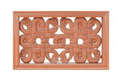Sniden wood modell för garnering som isoleras på vit royaltyfria foton