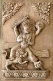 Sniden wood panelserie för Nepali hand Royaltyfria Foton