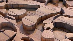 Snidit abstrakt trä stock illustrationer
