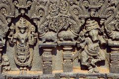 Snidit diagram, tempelkomplex, Warangal fort, Warangal, Telangana arkivbilder