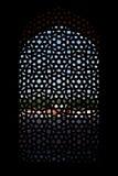 snidit fönster för tomb för skärm för humayunmarmor s Royaltyfri Bild
