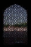 snidit fönster för tomb för skärm för humayunmarmor s Royaltyfri Fotografi