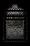 snidit fönster för tomb för skärm för humayunmarmor s Arkivfoto
