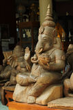 Snidit Ganesh trä Arkivbilder