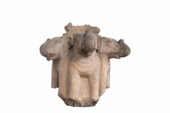 Snidit i stenelefant heads antikviteten (Thailand) Arkivbild