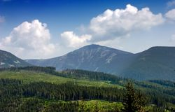 Sniezka - Highest Mountain of Czech Rep. Royalty Free Stock Photo