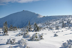 Sniezka mountain Stock Photo