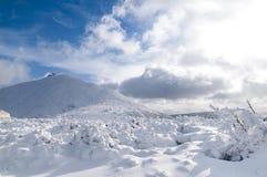 Sniezka mountain at sunny day Stock Photography