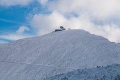 Sniezka mountain at sunny day Royalty Free Stock Photos