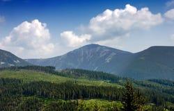 Sniezka - più alta montagna del rappresentante ceco. Fotografia Stock Libera da Diritti