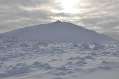 Sniezka snowy peak in the Sudetenland Stock Photo
