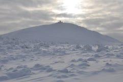 Sniezka snowy peak in the Sudetenland Stock Photo