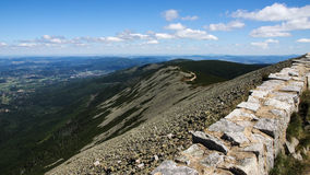 Sniezka Summit in Karkonosze Mountains Royalty Free Stock Photo