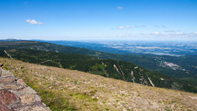 Sniezka Summit in Karkonosze Mountains Stock Image