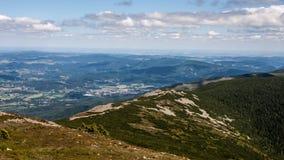 Sniezka Summit in Karkonosze Mountains Royalty Free Stock Photography