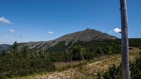 Sniezka Summit in Karkonosze Mountains Stock Photos