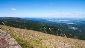 Sniezka szczyt w Karkonosze górach Obraz Stock