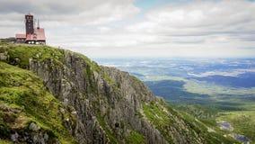 Sniezne kotly w połysku karkonosze górach obrazy royalty free