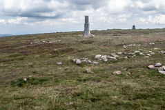 Snieznik hill summit on polish-czech borders Stock Photo