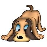 Sniffing dog royalty free illustration