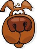Sniffing dog icon. Cartoon  illustration of funny sniffing dog Stock Photos