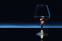 Snifter with brandy Royalty Free Stock Image