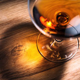 Snifter with brandy Stock Photo
