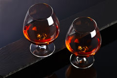 Snifter with brandy Royalty Free Stock Photography