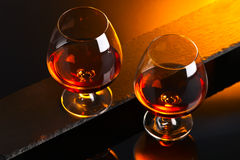 Snifter with brandy Royalty Free Stock Images