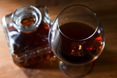 Snifter with brandy Stock Images