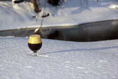 Snifter in the Snow Royalty Free Stock Photos