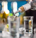Snifters on bar desk Stock Photography