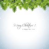 Snöig bakgrund för jul Royaltyfria Bilder