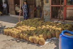 Sniglar i påsar som är till salu på den marockanska souken Royaltyfri Bild
