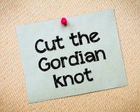 Snijd Gordian Knot royalty-vrije stock foto's