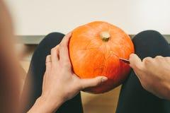 Snijd Halloween-Pompoen stock fotografie